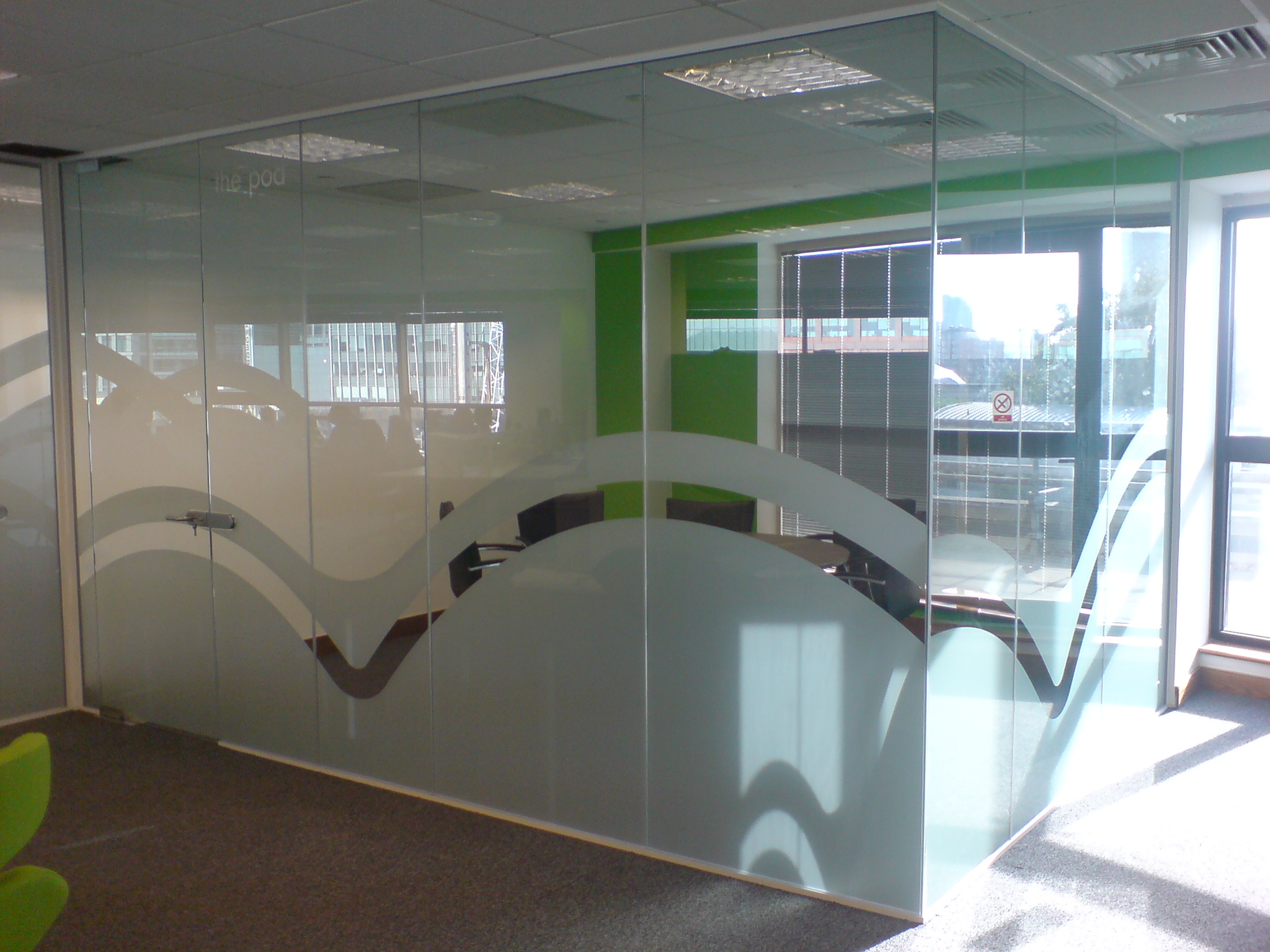 Frosted Vinyl Graphics Etched Logos Office Doors Windows